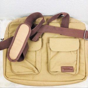 Bella Russo Tan Laptop Bag Messenger Bag 💼